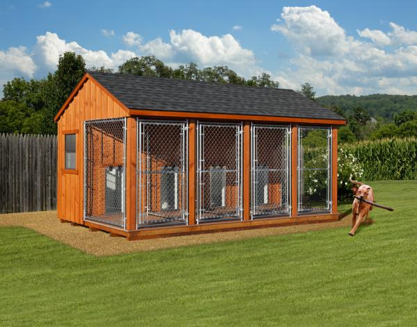 10x16 commercial kennel in wood