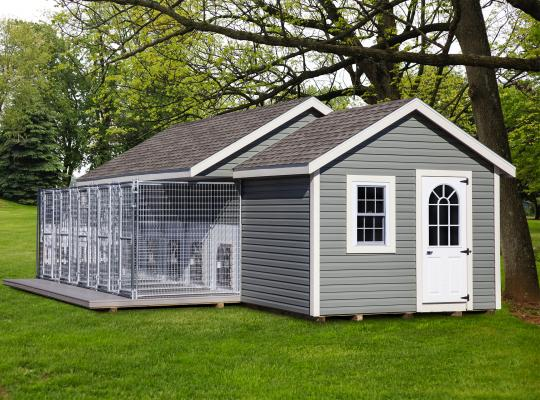 10x28 elite commercial kennel in gray