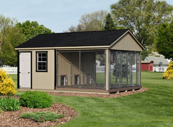 12x18 commercial kennel in beige