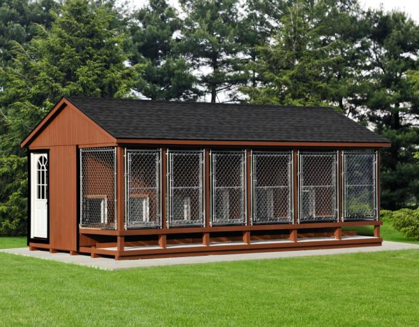 12x22 commercial kennel in brown