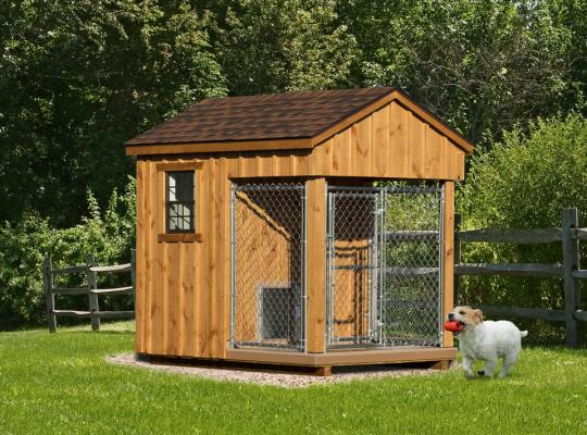 6x8 residential kennel in wood