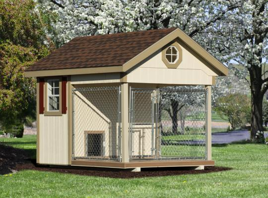 8x10 elite residential kennel in beige
