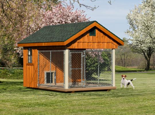 8x12 elite residential kennel in wood