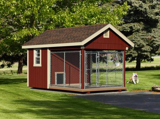 8x12 elite residential kennel in red