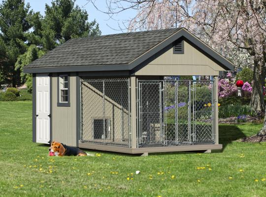8x16 elite residential kennel in gray