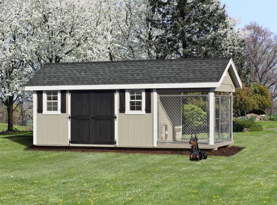 8x20 elite residential kennel in gray