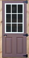 nine windowed door