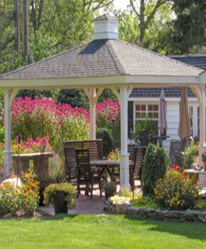White Outdoor Pergola