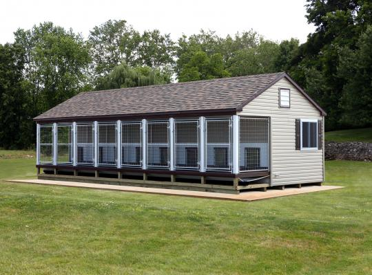 14x 32 commercial kennel in gray