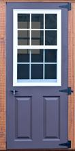 regular blue door