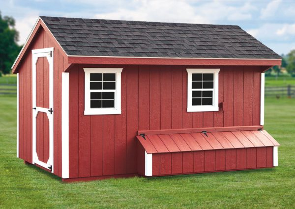 7'x12' Quaker w/Feed Room.