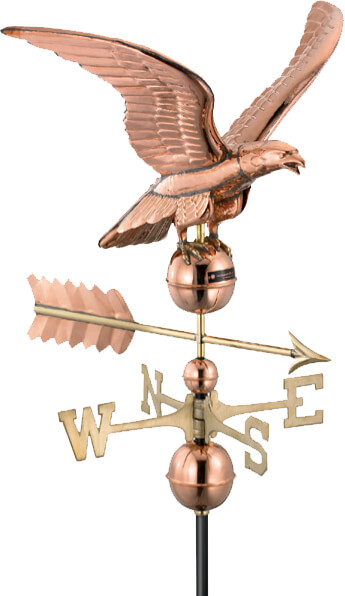 Copper eagle weathervane.