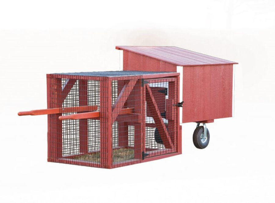 3'x4' Lean-To Tractor (back).